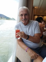 Bill relaxing with a cool beverage in the lounge.