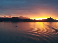 Sunset a couple of hours after leaving Ketchikan