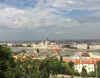 Budapest Parliament building, across the Danube from the Castle District