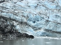 This is a glacier in Glacier Bay.  We were able to get close to it, to obse