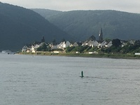 Beautiful scenery as cruising the Rhine River in the afternoon after the mo
