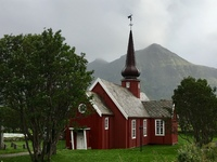 Flakstad Church in the Lofoten Islands