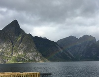 Beautiful scenery in the Lofoten Islands