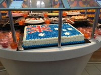 Australia cake made as there were so many Aussie on board
