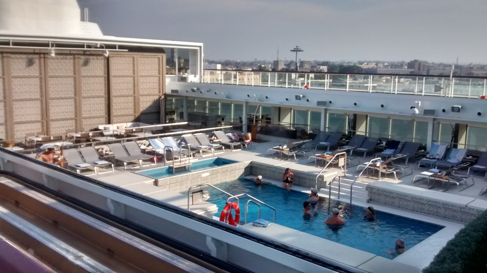 Main pool on the ship.