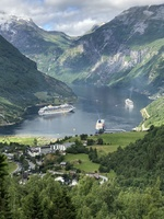Panoramic view of the Geirangerfjord