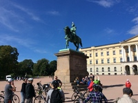 The Norwegian Royal Palace.  We cycled here.