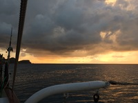 Sunset off Vela