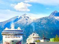 Our ship, The Bliss, taken from downtown Skagway, Alaska.