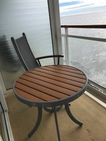 Nice balcony furniture and the balcony was in good condition for a 15 year