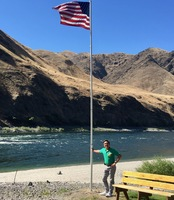 And that's me in Hell's Canyon , Snake River. With the compliments