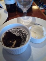 This is the chocolates lava cake type of dessert that was being served in t