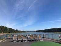 Cruising along the Danube, viewed from the top deck