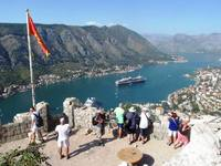 From the castle in Kotor, 1,200 metres and 1,350 steps up.