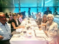 Dinner on board, international blend of table companions, superb food and w