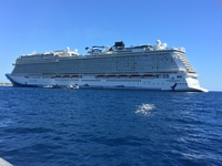 On our way back from Cabo - what a beautiful ship.