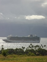Ship looks nice in light and clouds as taken from the Maui shore tour.