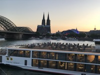 Our longship at sunset, just before leaving Koln.