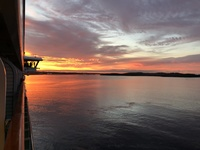 Sunrise starboard balcony deck 9 in Halifax