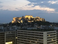 View of the Acropolis from the Hotel Grande Bretagne, Athens