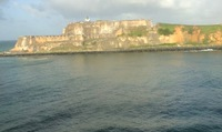 Old fort guarding port entrance. San Juan oldest city in US or  its territo
