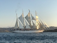 Star Clipper with sails