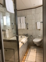 Suite bathroom - jetted tub, separate shower, and double sinks.