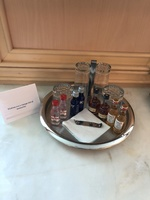 Full suite amenity - mini bar setup (more in fridge)