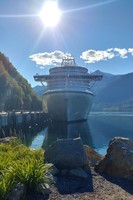 At port in Skagway.