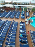 In the mornings they setup the lido deck like this
