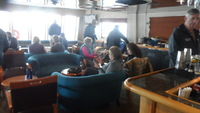 Lounge area/bar seating is insufficient for a full-capacity crowd during ha