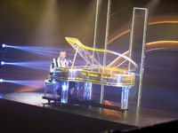 Elevated Grand Piano during show