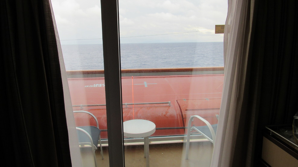 view from the obstructed balcony, deck 8