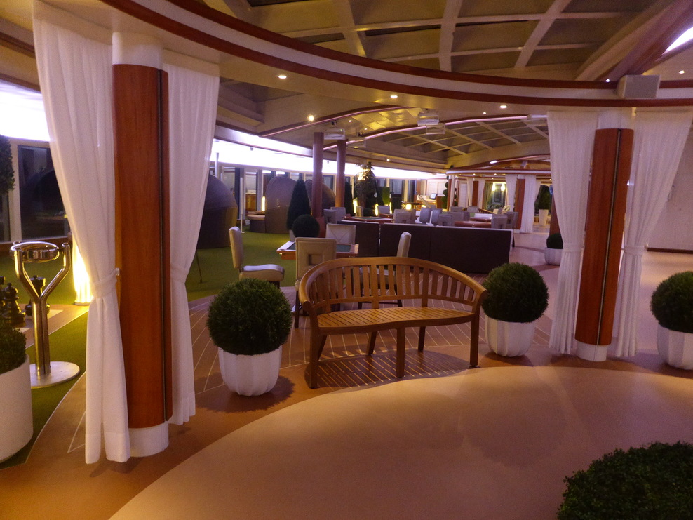 View of the Hollywood Conservatory on Deck 17 during a quiet moment.