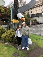 This photo was taken in Ketchikan - it was rainy and chilly but we had a ve