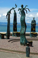 Sculptures along the Malecon in Puerto Vallarta