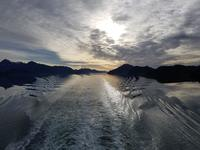 Alaska in the rearview as we sail toward Seattle.