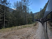 Our Train Ride through White Pass!