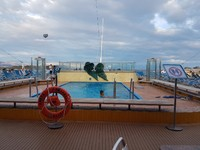 Pool at rear of ship