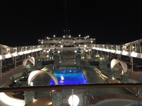 Night view from deck 14