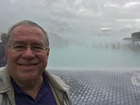 This is a selfie I took at the famous Blue Lagoon Thermal Pool.  Exceptiona