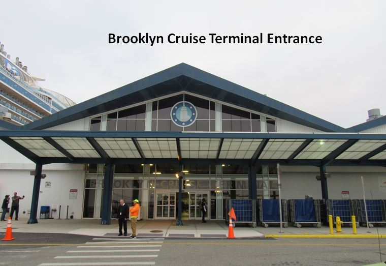 The Brooklyn Cruise Ship Terminal - main entrance.