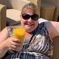 Enjoying a delicious cool drink on the Haven's lounge deck