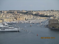 Taken from the aft terrace of Raffles  overlooking the Malta yacht basin