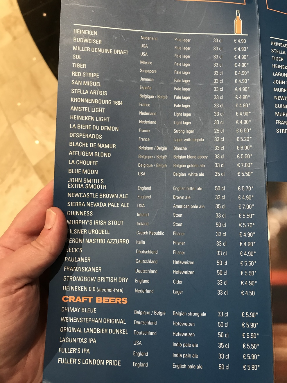What's NOT included in the 'all inclusive' drinks package