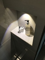 Tiny shelf inside the shower