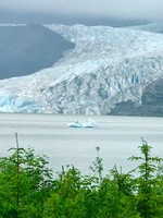 view of Mendenhall glacier from the Hike