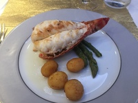Lobster is served only once during your cruise in the Yacht Club restaurant