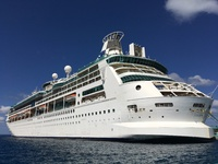 Vision of the Seas docked in Nassau
