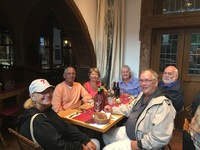 Dinner with our traveling friends in Rudesheim